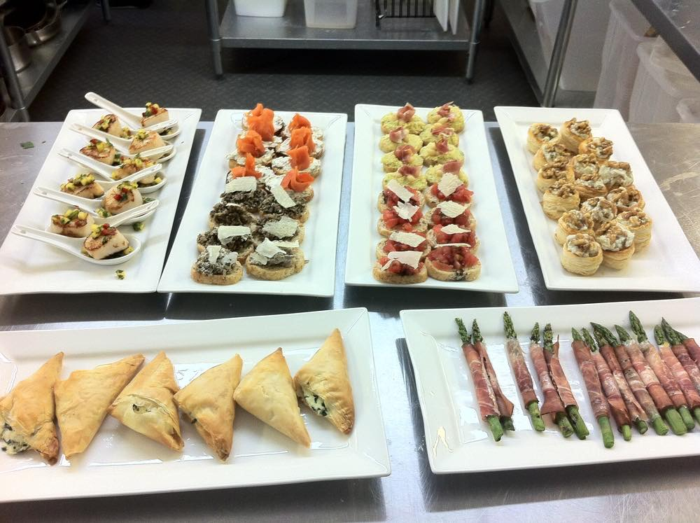 Food on display at the Collingwood Cooking Academy kitchen