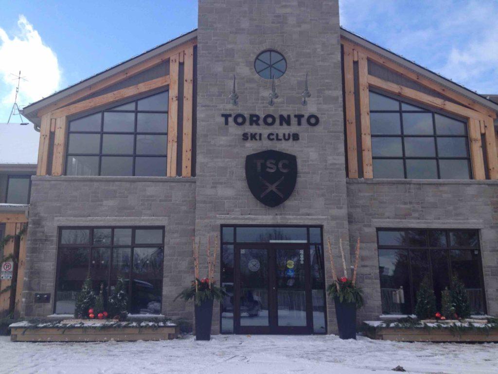 Toronto ski club clubhouse exterior private blue mountain ski club